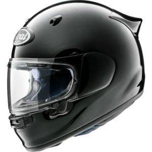 arai quantic diamond black touring motorcycle helmet side view