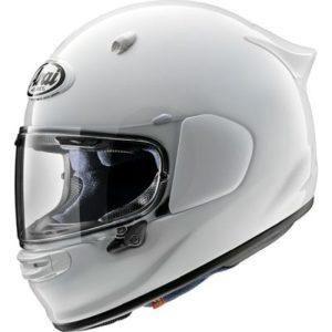 arai quantic diamond white motorcycle helmet side view