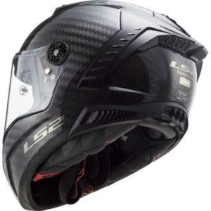 ls2 thunder FIM track helmet rear view