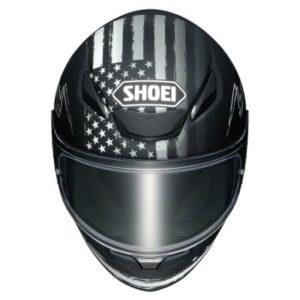 shoei rf-1400 dedicated 2 motorcycle helmet top view