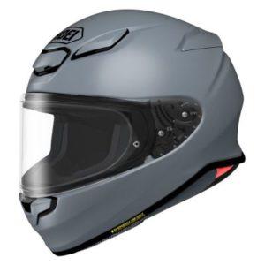 shoei rf-1400 helmet basalt grey side view