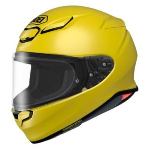 shoei rf-1400 helmet solid yellow side view