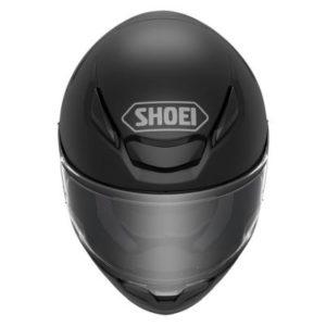 shoei rf-1400 matte black motorcycle helmet top view