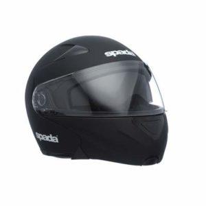 spada reveal mat black modular motorbike helmet