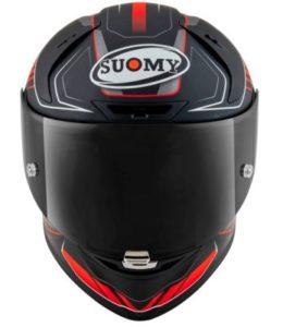 suomy SR-GP gamma matt red FIM racing helmet front view