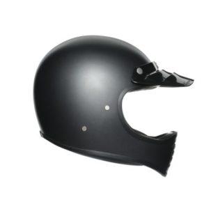 AGV X101 mono matt black retro motorcycle helmet side view