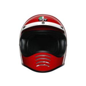 AGV X101 mono red motocross helmet front view