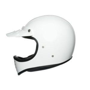 AGV X101 mono white retro motocross helmet